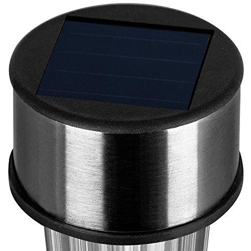 photo Wallpaper of Deuba-8x LED Solarlampe Aus Edelstahl ✔wetterfest ✔automatisches Einschalten Bei Dämmerung ✔-