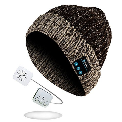 photo Wallpaper of Sense42-Sense42 Bluetooth Strickmütze Wintermütze Damen Herren Braun Beige Meliert One Size-Dunkelgrau