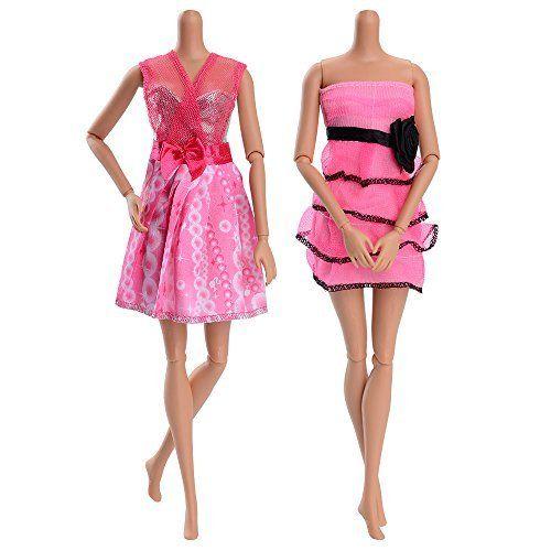 photo Wallpaper of ASIV-ASIV 10 Stück Hochzeitkleider Abendkleider, 10 Paar High Heel Schuhe Für Barbie Puppen-A