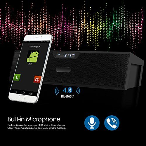 photo Wallpaper of ELEGIANT-Bluetooth Lautsprecher, ELEGIANT Bluetooth 4.0 Stereo Lautsprecher Radiowecker Wireless Speakers Bluetooth Box HiFi-Schwarz