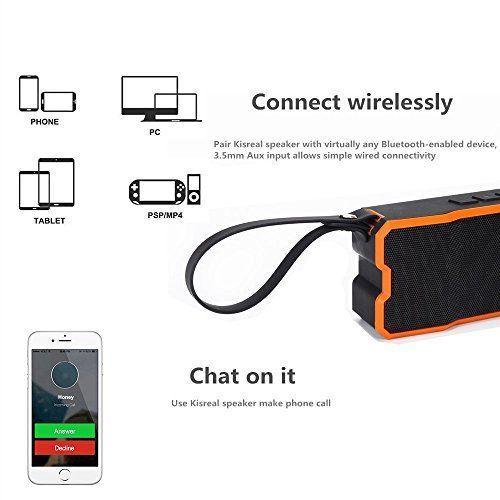 photo Wallpaper of TTPLANET-TTPLANET Bluetooth Lautsprecher Tragbare Wiederaufladbare Mini Stereo Funklautsprecher 3D Surround Kompatibel Mit Smartphones, Tablets-