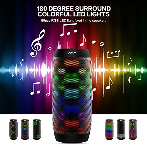 photo Wallpaper of Life-Plus-LED Lautsprecher, HUMTUS Wireless Bluetooth Lautsprecher, HIFI Lautsprecher Tragbarer Stereo-Schwarz