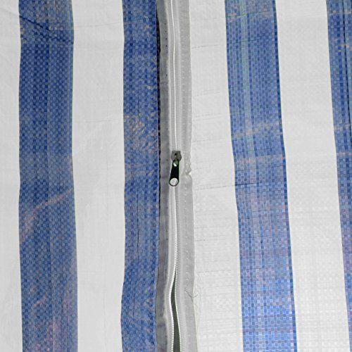 photo Wallpaper of Nexos-Pavillon Partyzelt 3x3m Blau Weiß Wasserdicht + 4 Seitenteile Gartenzelt Eventzelt Marktzelt Festzelt-blau