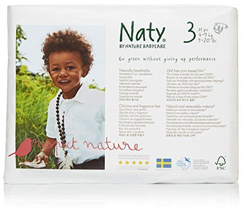 photo Wallpaper of Nature Babycare-Naty By Nature Pañales, Pack De 4 X 31-Blanco