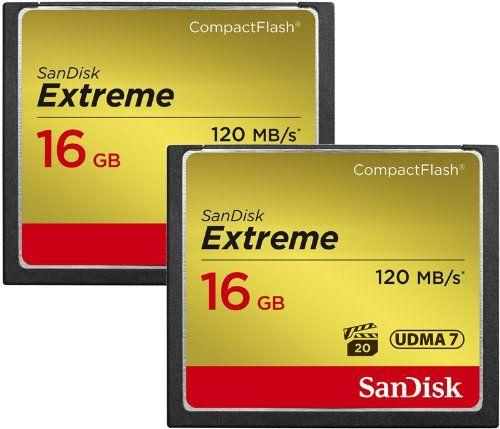 photos of SanDisk Extreme CompactFlash 16GB Speicherkarte Doppelpack Bestes Angebot Kaufen   model Computer & Zubehör