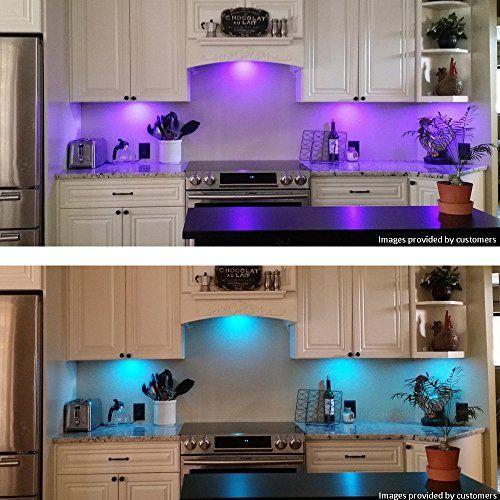 photo Wallpaper of BASON-LED Küche Unter Kabinett Beleuchtung Multi Farbe Veränderbar LED Akzentbeleuchtung Für Schrank / Bücherregal-Fernsteuerung Multi Farbe