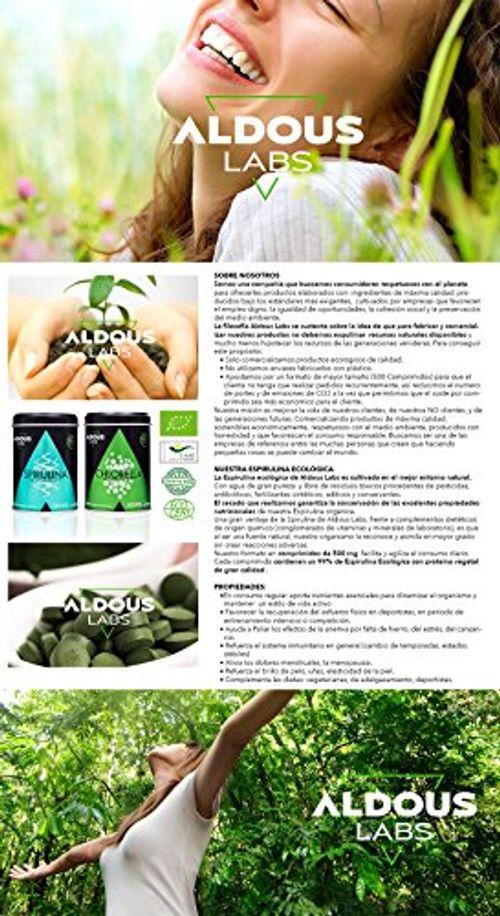 photo Wallpaper of Aldous Labs-Espirulina Ecológica Y Orgánica De Calidad Premium | 500 Comprimidos De 500mg |-