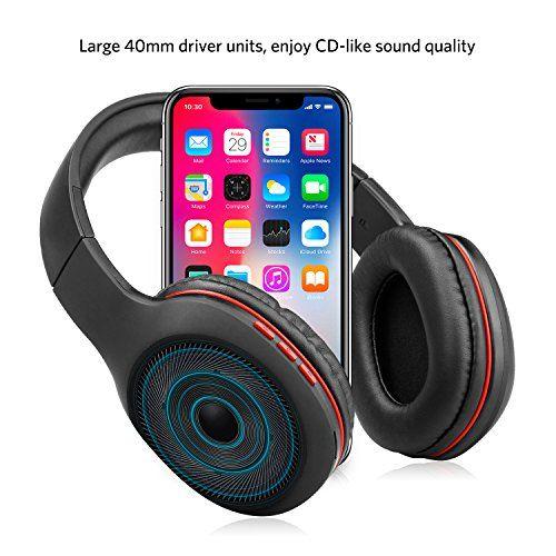 photo Wallpaper of Ausdom-Bluetooth Kopfhörer, Ausdom Wireless Faltbar Over Ear HiFi Stereo Headset Mit Built In-Schwarz