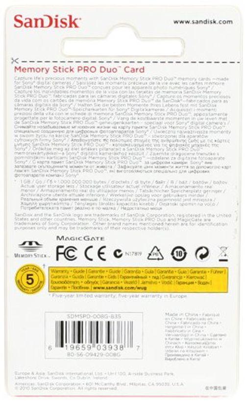 photo Wallpaper of SanDisk-SanDisk Memory Stick PRO Duo 8 GB Speicherkarte-Schwarz