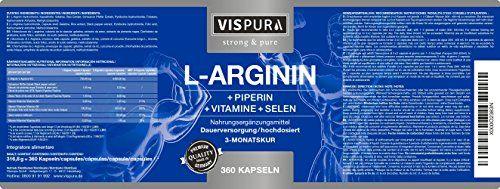 photo Wallpaper of VISPURA-Cápsulas De L Arginina, ALTAMENTE CONCENTRADA, 360 Comprimidos Con Fórmula VITAL B6, B12, ácido-