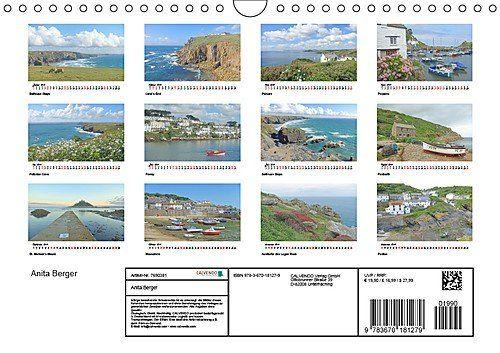 photo Wallpaper of CALVENDO-Cornwall. Der Malerische Südwesten Englands (Wandkalender 2019 DIN A4 Quer): Küste, Klippen, Buchten-