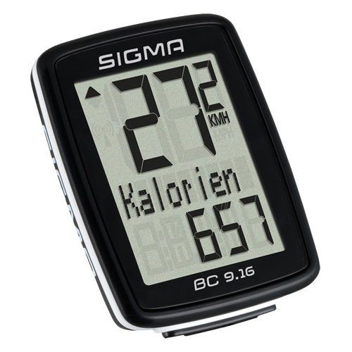 photo Wallpaper of Sigma Sport-Sigma Sport Fahrrad Computer BC 9.16, 9 Funktionen, Maximalgeschwindigkeit, Kabelgebundener Fahrradtacho, Schwarz-Schwarz