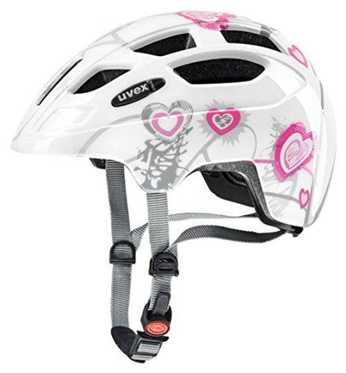 photo Wallpaper of Uvex-Uvex 414807 Kinder Fahrradhelm,Mehrfarbig (heart White Pink), 51 55 Cm-Mehrfarbig (heart white pink)