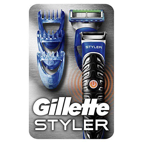 photo Wallpaper of Gillette-Gillette Fusion ProGlide Styler   Maquinilla De Barba Multiusos , Recortadora, Afeitadora, Perfiladora-Negro, Azul