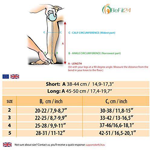 photo Wallpaper of BeFit24-®BeFit24 Calcetines De Compresión Gradual (23 32 MmHg, 120 Denieres, Clase 2) Hasta-Beige