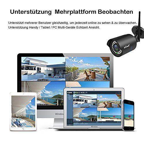 photo Wallpaper of ieGeek-[Verbesserte] IeGeek IP überwachungskamera / IP Kamera 720P HD Wasserdicht Wlan-Schwarz