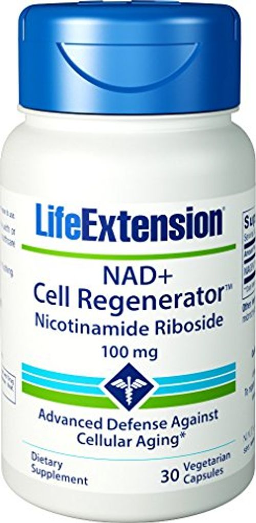 photo Wallpaper of Life Extension-Vida Extensión Nad + Regenerador Celular Nicotinamide Riboside Cápsulas, 30 Count-