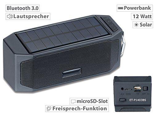 photo Wallpaper of auvisio-Auvisio Solarpowerbank: Solar Lautsprecher Mit Bluetooth 3.0, Freisprecher, Powerbank, 12 Watt (Solar Powerbank Mit-