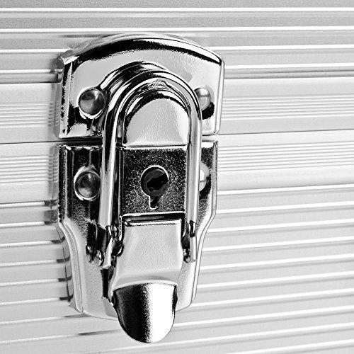 photo Wallpaper of Mantona-Mantona Foto Koffer Basic M Mit Schaumstoff Silber (aus Aluminium, Abschließbar)-