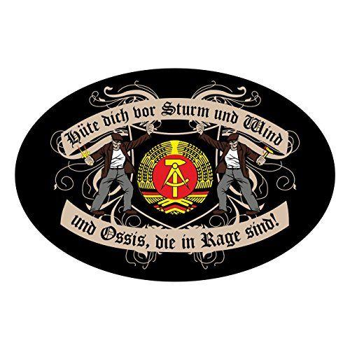 photo Wallpaper of Spaß kostet-Wetterfester Aufkleber Hüte Dich DDR-