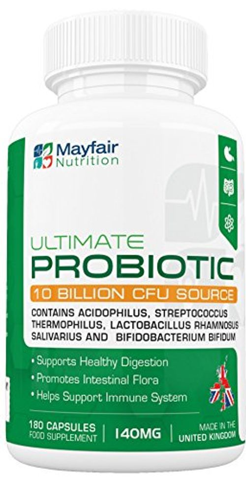 photo Wallpaper of Mayfair Nutrition-Complejo Probiótico   180 Tabletas Fuente De 10 Mil Millones-