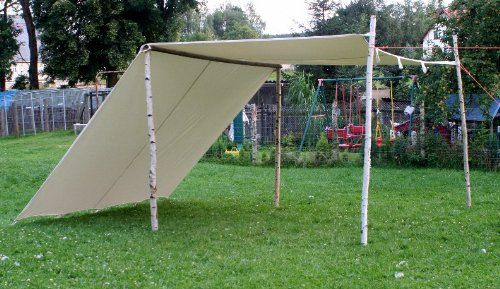 photo Wallpaper of -Sonnensegel 5 X 5 M LARP Reenactment Lagerplane Mittelalter Zelt Frame Tent-weiß