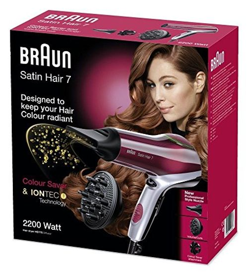 photo Wallpaper of Braun-Braun Satin Hair 7 HD 770   Secador De Pelo Teñido, Color-Negro, Rojo