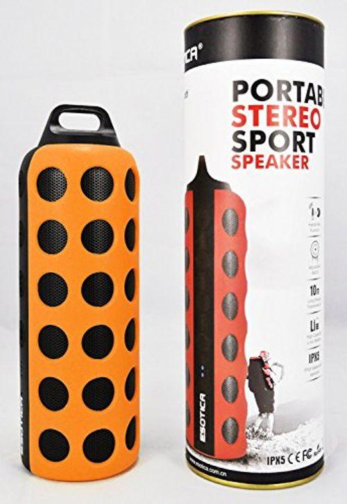 photo Wallpaper of Elive-Bluetooth 4.0 Outdoor Sport Lautsprecher, Spritzwassergeschützt, Mit Kabelloser Musikübertragung über Bluetooth-orange