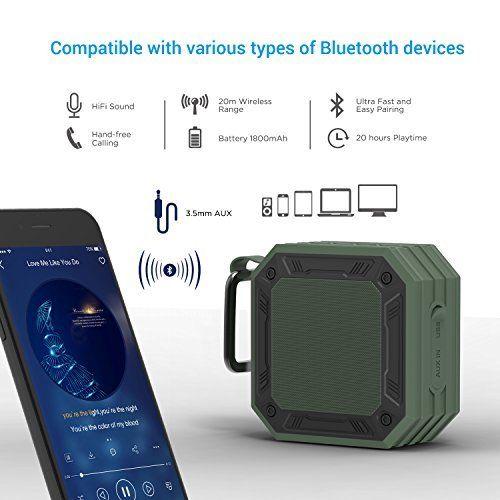 photo Wallpaper of MixcMax-Bluetooth Lautsprecher MixcMax Mobiler Lautsprecher Mit 20 Stunden Akkulaufzeit Und überraschend Kraftvollem Sound-