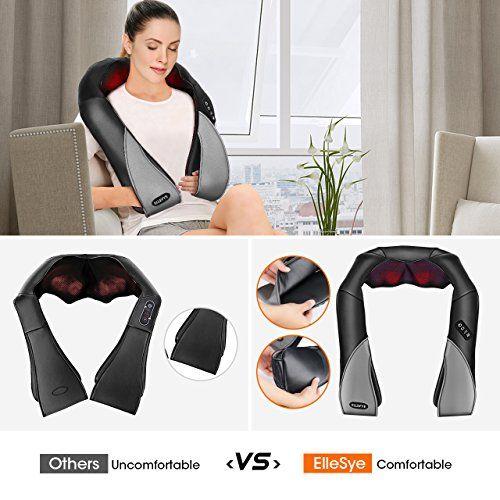 photo Wallpaper of ElleSye-ElleSye Masajeador De Cuello Y Hombros Básico,Shiatsu Masajeador Cervical De Calor Infrarrojos E-