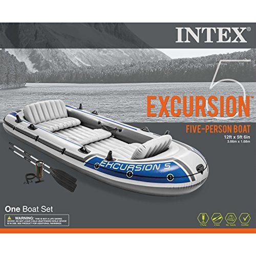 photo Wallpaper of Intex-Intex Schlauchboot Mit 5 Plätzen, Inkl. Aluminiumruder Und Pumpe-- grey/blue model