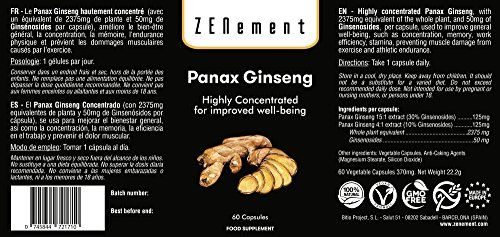photo Wallpaper of Zenement-Panax Ginseng, Altamente Concentrado 2375mg, 60 Cápsulas, Mejora La Concentración, Memoria Y-