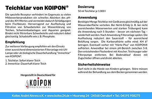 photo Wallpaper of KOIPON-Teichklar (1 L) Für Kristallklares Wasser Gegen Schwebealgen Im Trüben-
