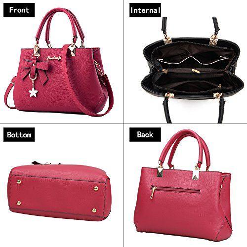 photo Wallpaper of Magic Zone-Magic Zone Damen Handtaschen Fashion Handtaschen Für Frauen PU Leder Schulter Taschen Messenger-Red