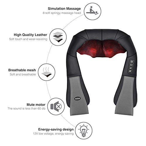 photo Wallpaper of Fitfirst-Masajeador Cuello FITFIRST 3D Shiatsu Masajeador Cervicales Espalda Electrico Función De Calor Para Relajación-