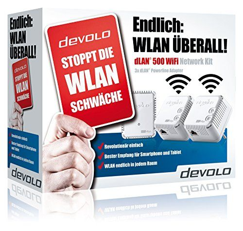 photo Wallpaper of Devolo-Devolo DLAN 500 WiFi Network Kit Powerline (500 Mbit/s Internet-Weiß