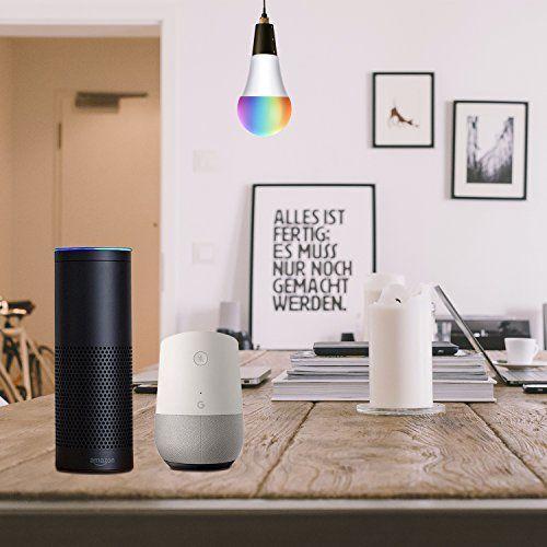 photo Wallpaper of AUSEIN-WiFi Bulb Intelligente Bunte LED Lampe Dimmbare 650 Lumen Kugelförmige Lampe Entspricht 60W Edison-Warm Weiß