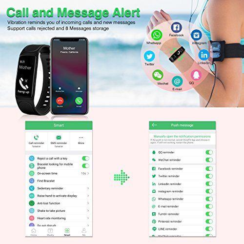 photo Wallpaper of IceFox-Fitness Armband, ELEGIANT Fitness Tracker Smart Armbänder Aktivitätstracker Sport Armbanduhr Schrittzähler IP67 Wasserdicht Uhr-Schwarz