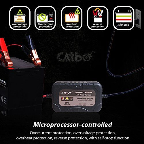 photo Wallpaper of CATBO-CATBO 2Amp Smart Battery Charger Maintainer 6V 12V Charging Selectivity-
