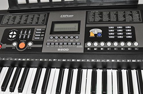 photo Wallpaper of CLIFTON-Keyboard 61 Tasten Mit Keyboard Ständer-silber