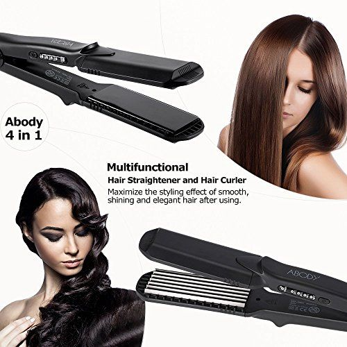 photo Wallpaper of Abody-Abody Plancha De Pelo 4 Placas Intercambiables De Cerámica Para 4 Tipos De Pelo-