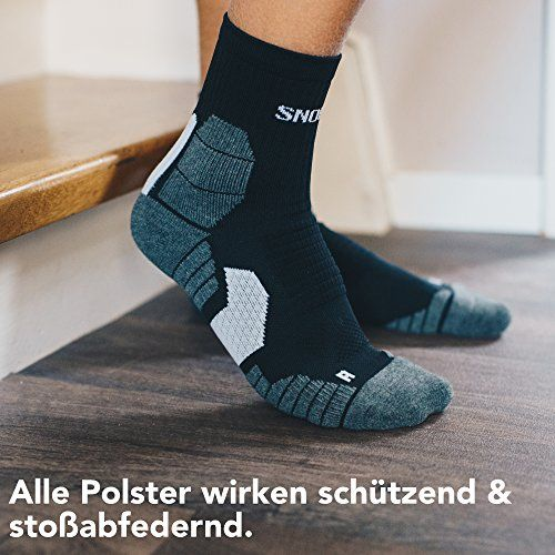 photo Wallpaper of Snocks-Snocks Damen & Herren Running Socken (5 Paar) Ideal Zum Joggen, Laufen, Schwarz,-Schwarz