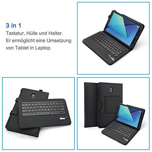 photo Wallpaper of Jelly Comb-Samsung Galaxy Tab S3 9.7 Tastatur Hülle, Jelly Comb Bluetooth Keyboard Case-