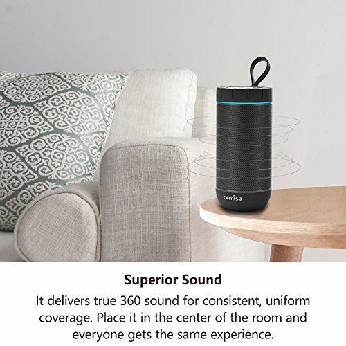 photo Wallpaper of COMISO-Bluetooth Lautsprecher, COMISO IPX5 Wasserdicht Lautsprecher Box Mit Dual Treiber Besserem Bass, 20-Schwarz
