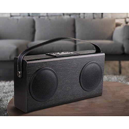 photo Wallpaper of AVWOO-Lautsprecher Avwoo Doppel Lautsprecher–tragbar, Kabellos, Bluetooth, Stereo Doppel Lautsprecher, Mit Radio-schwarz