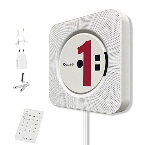 photo Wallpaper of KECAG-KECAG CD Player Wandmontierbar Bluetooth Lautsprecher Portable Home Audio Mit Fernbedienung-weiß