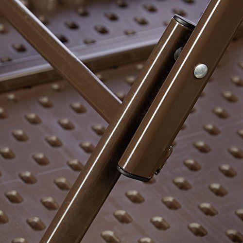 photo Wallpaper of Relaxdays-Relaxdays Gartentisch Klappbar BASTIAN, Quadratisch H X B X T:-Braun