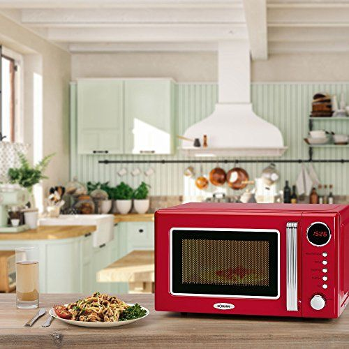 photo Wallpaper of Bomann-Bomann MWG 2270 CB 2in1 Mikrowelle Retro Design, 700 W-Rot