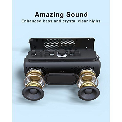 photo Wallpaper of DOSS-DOSS Sound E GoII Lautsprecher Bluetooth 4.0 Lautsprecherbox Soundbox Mit Dual Treiber Besserem-