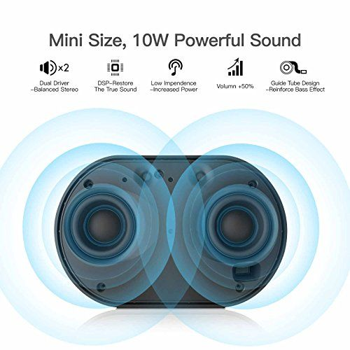 photo Wallpaper of GGMM-GGMM Tragbarer Bluetooth Lautsprecher 4.2 Wi Fi Multiroom Speaker Mit Amazon Alexa, E2-weiß